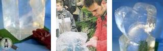 selbst Eisskulpturen-Schnitzen lernen, Ice-Carving LIVE, Erlebnisworkshop, Managertraining • Künstleragentur MrTom aus Dortmund im Ruhrgebiet in Nordrhein-Westfalen / NRW
