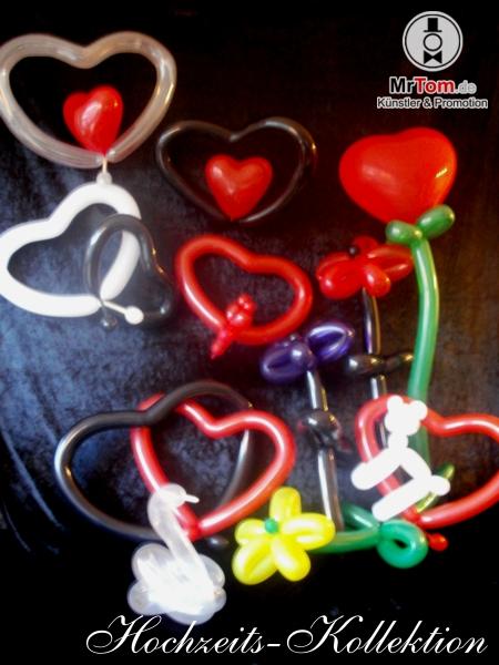 Foto der Hochzeits-Ballonfiguren-Koolektion
