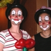 clownsgesicht gesichtsmalerei clown schminken flinke schminke kinderschminken. Black Bedroom Furniture Sets. Home Design Ideas