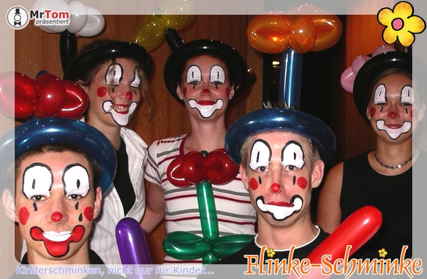 clownsgesicht gesichtsmalerei clown schminken flinke. Black Bedroom Furniture Sets. Home Design Ideas